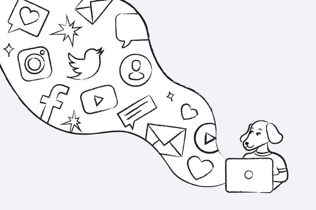 Social Media and Email Marketing Illustration