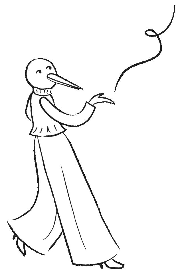 Literal Humans Bird Illustration